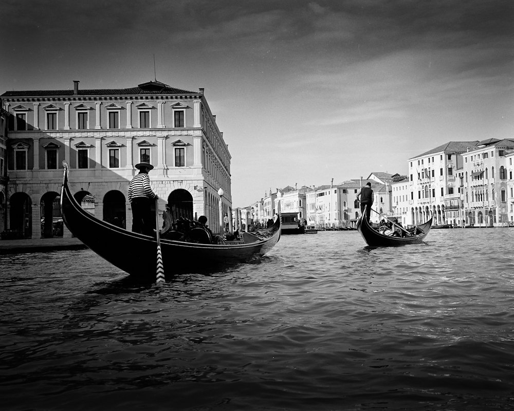 Gondoliers on the Grand Canal